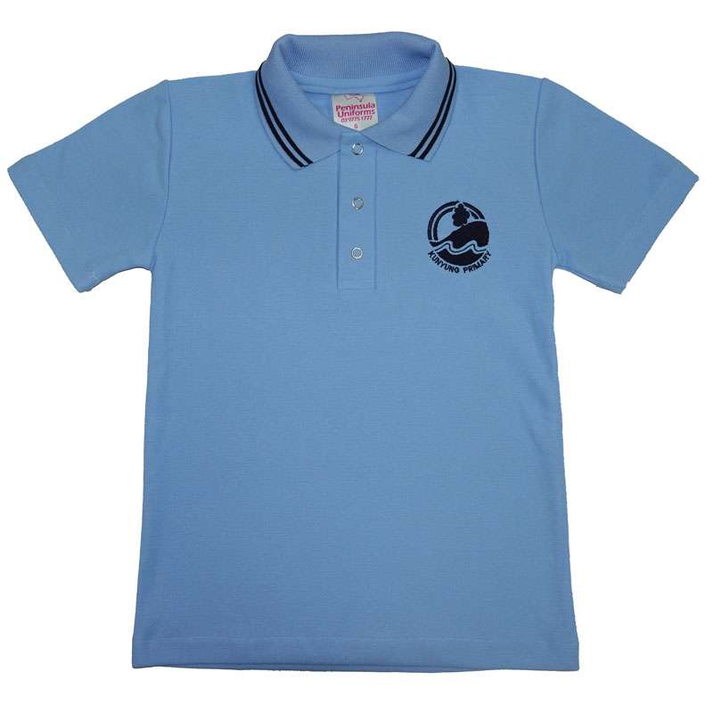 Kunyung Primary School Short Sleeve Polo - Skye