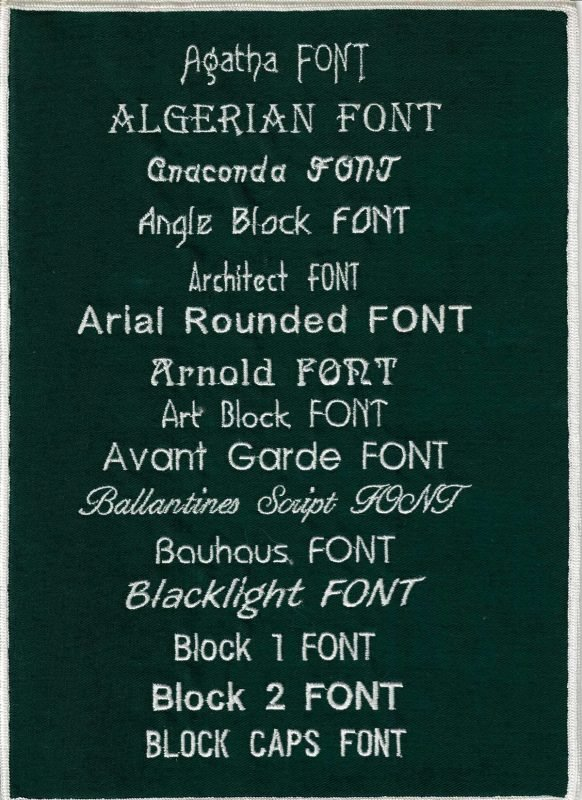 Embroidery Fonts 1