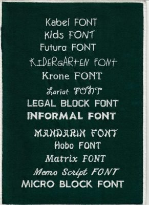 Embroidery Fonts 5