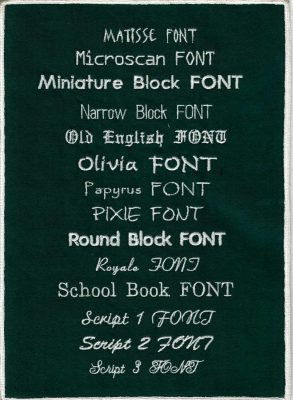 Embroidery Fonts 6