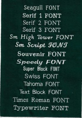 EMbroidery Fonts 7