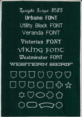 Embroidery Fonts 8