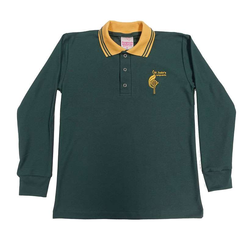 st judes long sleeve polo