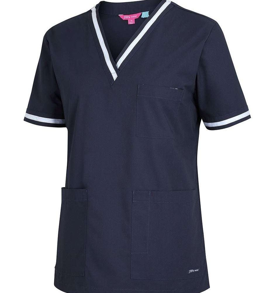 Scrubs Top Ladies Contrast